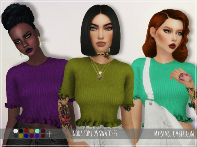 NORA TOP by MXFSIMS