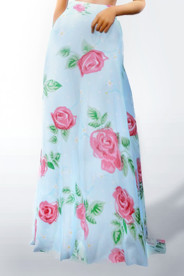 Long Floral Skirt by zhutra