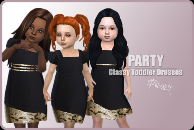 Toddlers Classy Dress by XMISAKIX SIMS