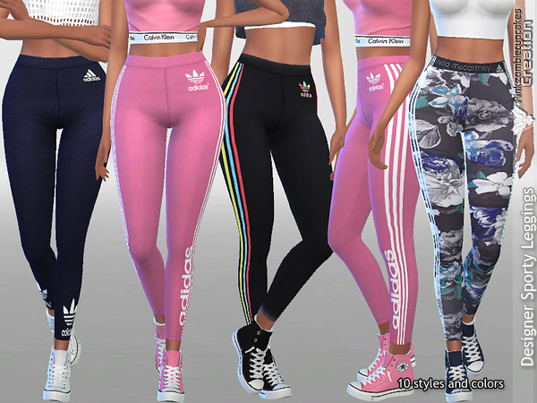 Designer Sporty Leggings Collection 01 by Pinkzombiecupcakes