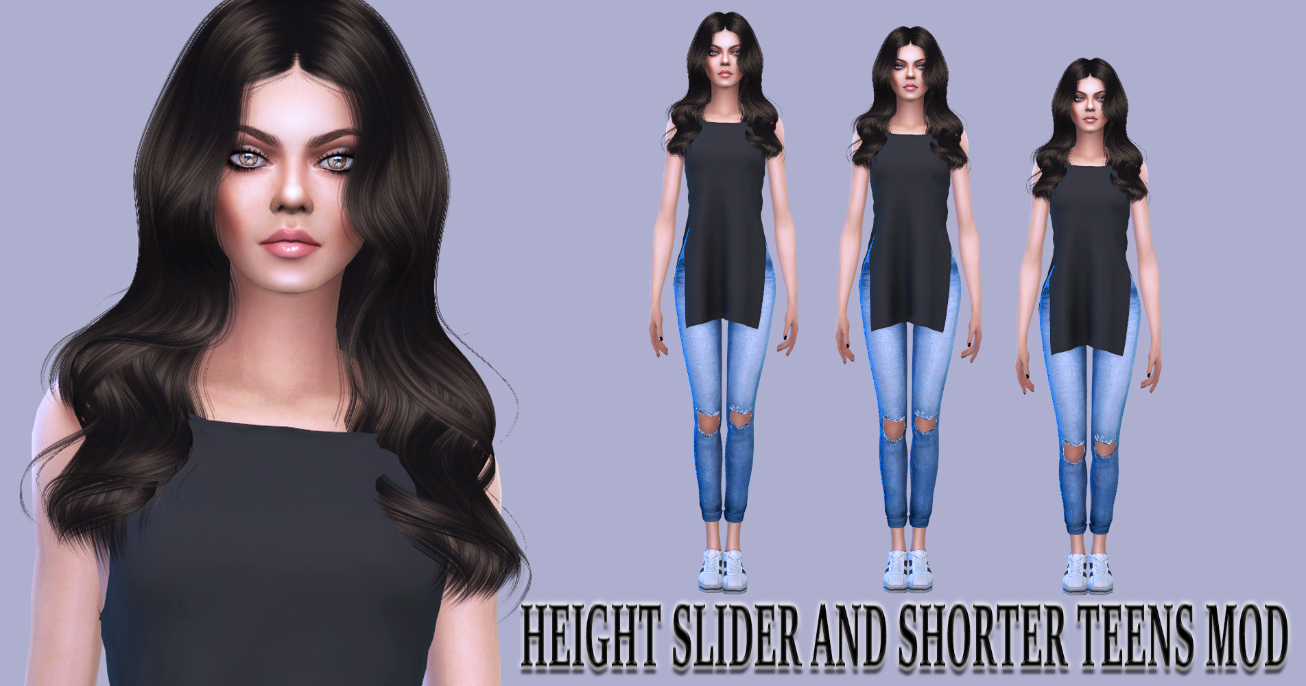 Height Slider and Shorter Teens Mod v1.97 by simmythesim
