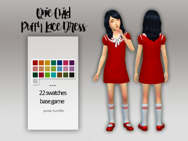Qnie Child Puffy Lace Dress by QVOIX