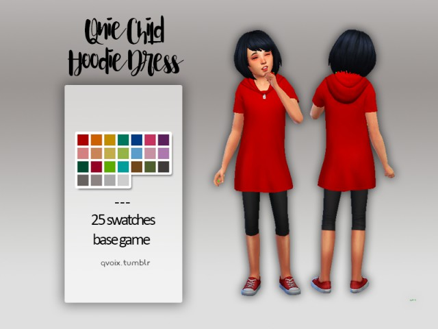 Qnie Child Hoodie Dress by QVOIX
