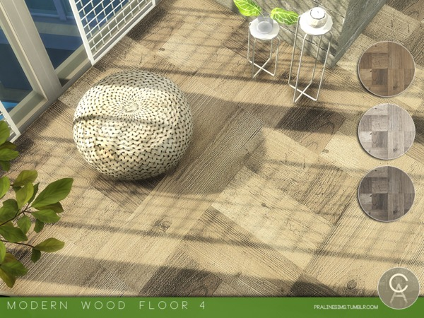 Modern Wood Floor 4 by Pralinesims