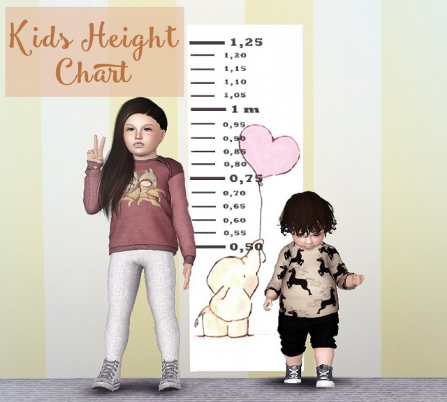 Kids Height Chart by Descargassims