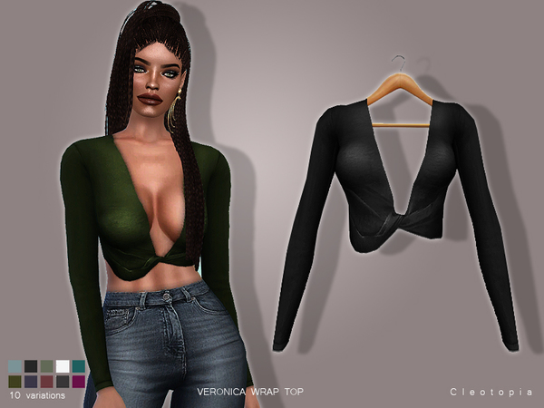 Set80- VERONICA Wrap Top by Cleotopia