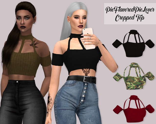 Pie Flavored Pie Lover Cropped Top by LUMY-SIMS