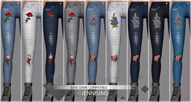 Base Game compatible Jeans skinny by JenniSims