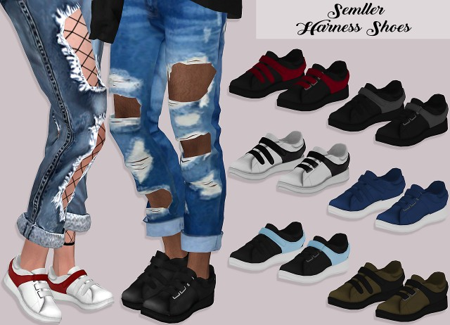 Semller Harness Shoes by Lumy-sims