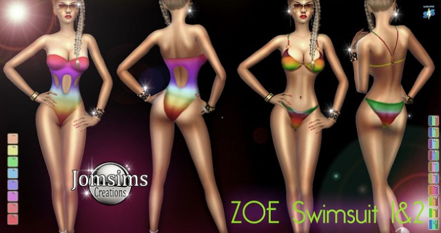 Zoe swimsuit 1&2 by jomsims