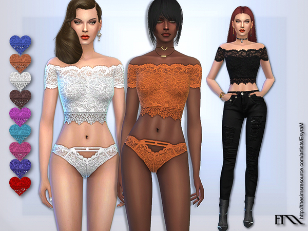 Applique Lace Set by EsyraM