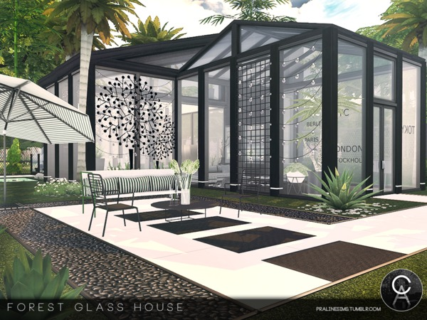 Forest Glass House by Pralinesims