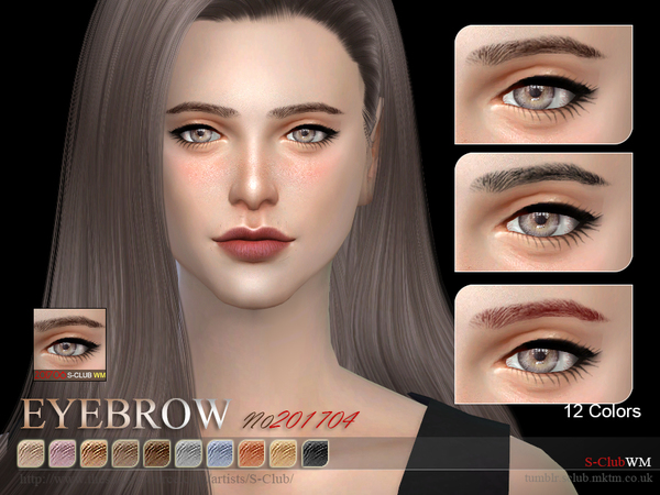 S-Club WM ts4 Eyebrows F 201706