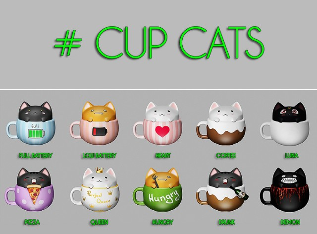 Cup Cats by theothersim