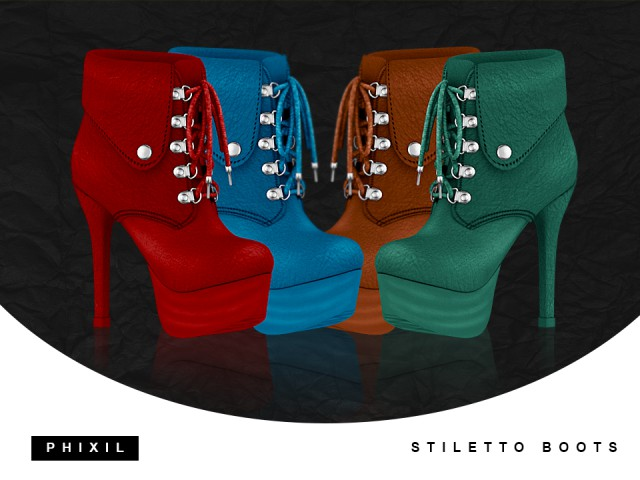 STILETTO BOOTS by phixil