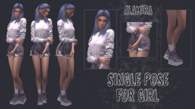Pose girl v2 and Romantic Solitary Pose by Alamira