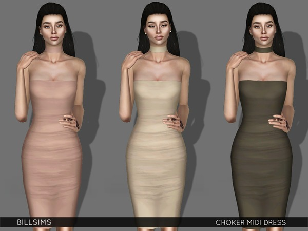 Choker Midi Dress by Bill Sims