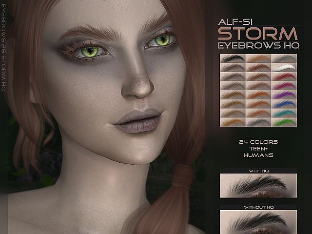 TS4 eyebrows 26 Storm HQ by Alf-si