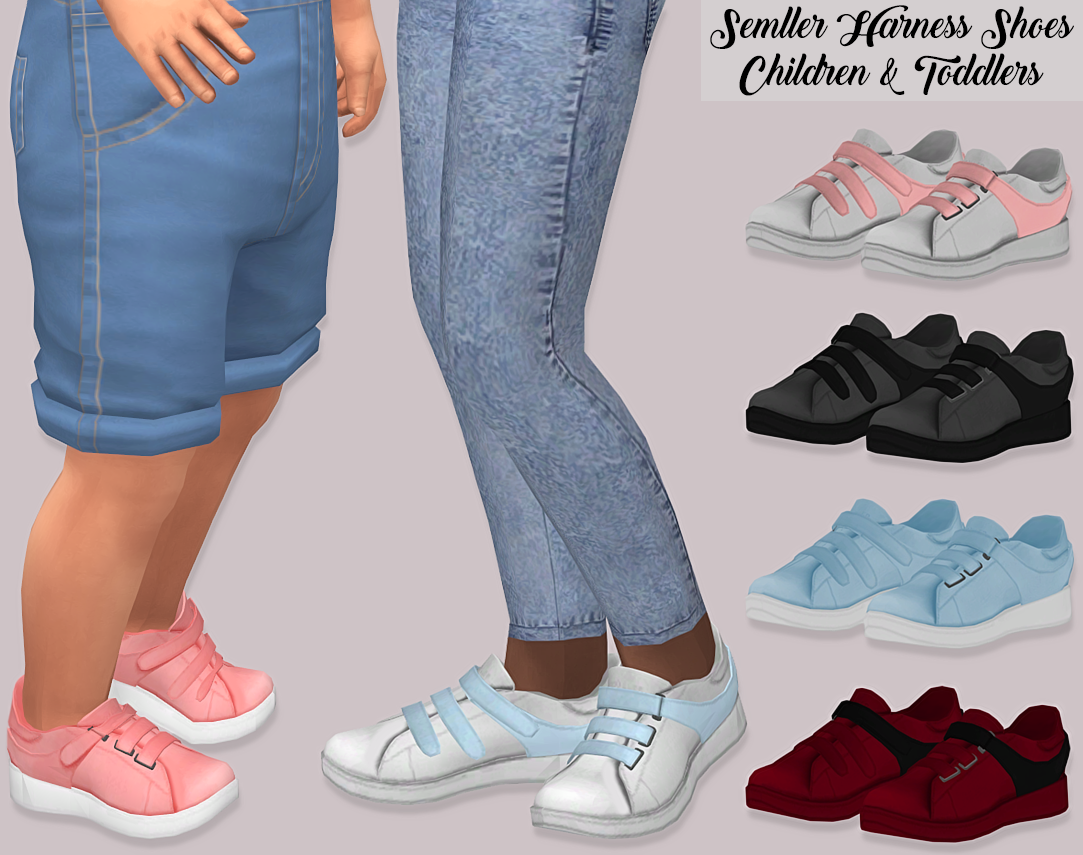 SEMLLER HARNESS SHOES CHILDREN AND TODDLERS by lumy-sims