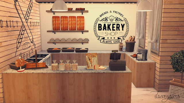 Bakery Wall Decals by ItsEveySims