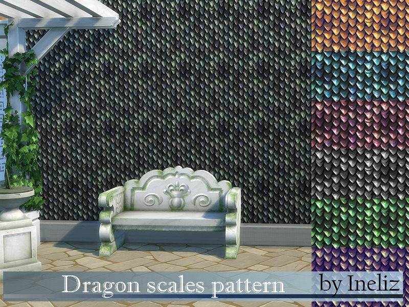 Dragon scales pattern by Ineliz