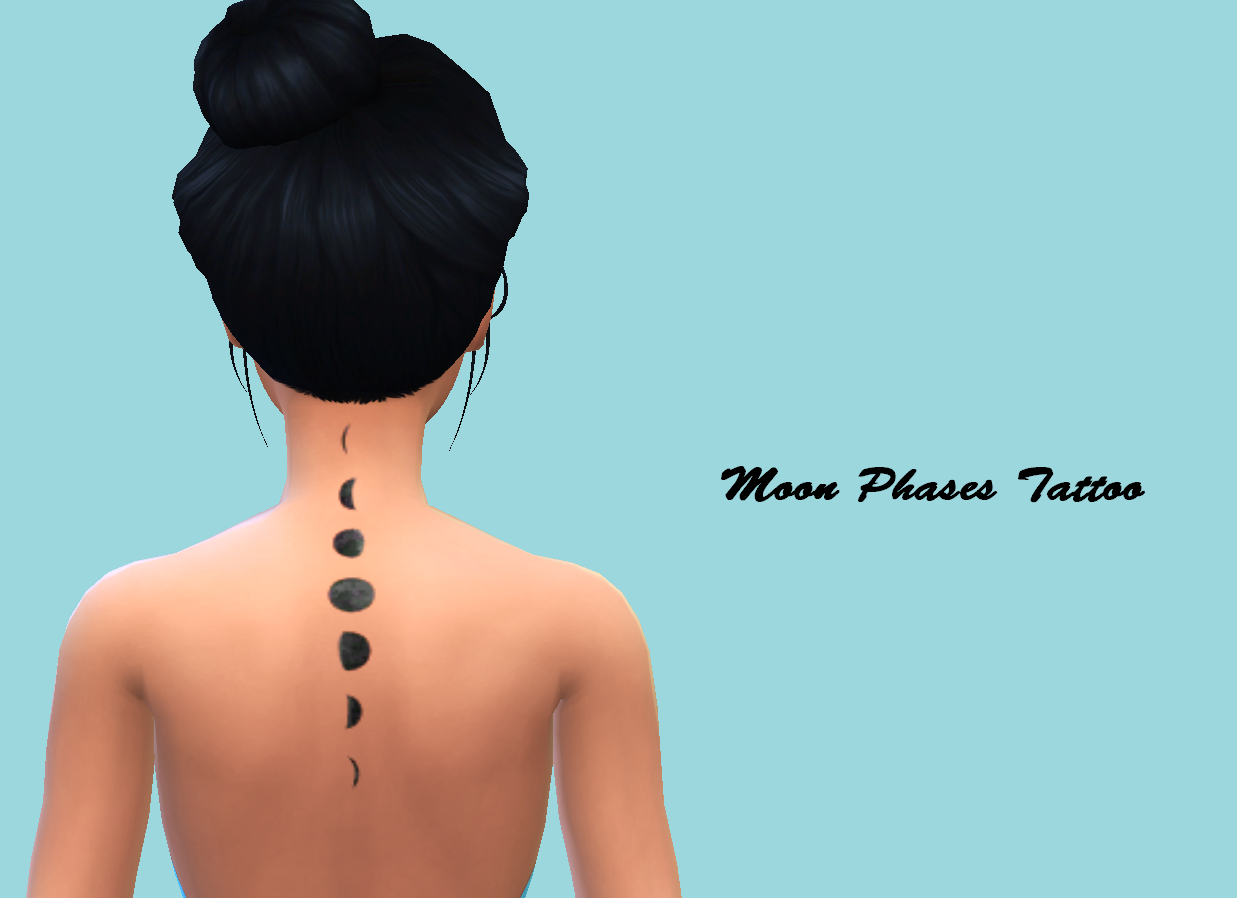 Moon Phases Tattoo by Christmasfear