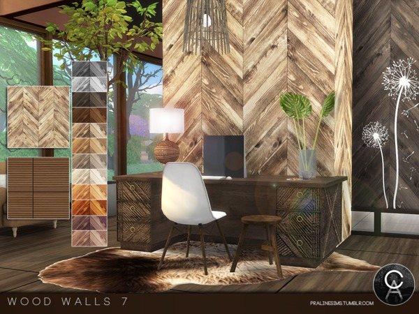 Wood Walls 7 by Pralinesims