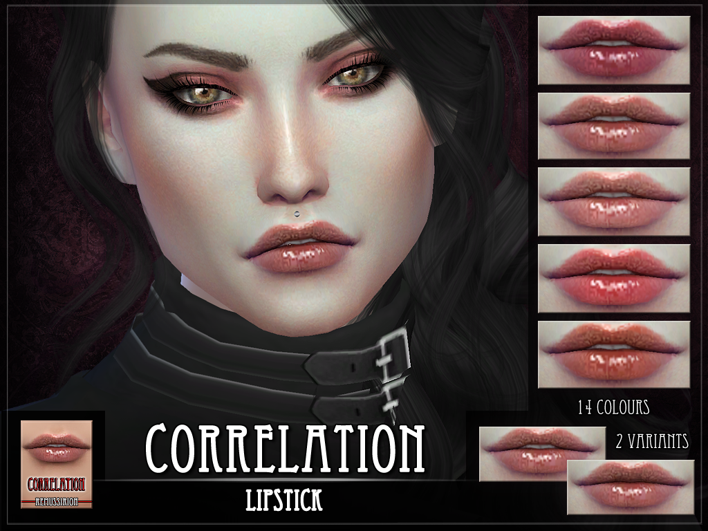 Correlation Lipstick for the Sims 4 by remussims