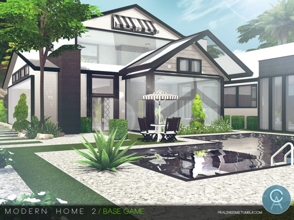 Modern Home 2 by Pralinesims