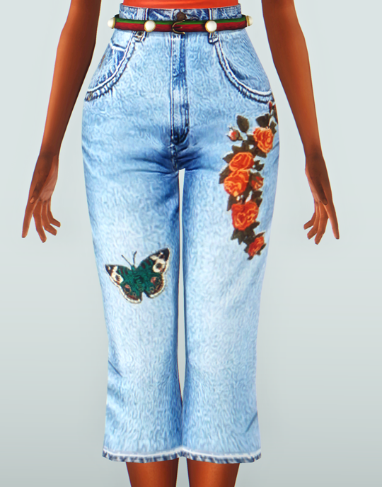 Serenity-CC Pearl Jeans Converted To Sims 3 by annoyinglydarkblaze