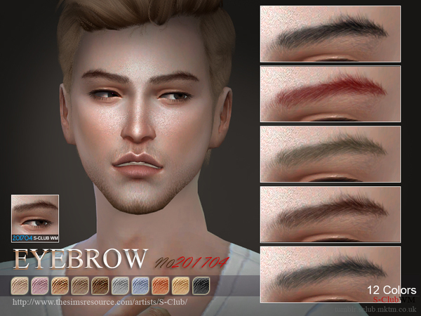 S-Club WM ts4 Eyebrows M 201704