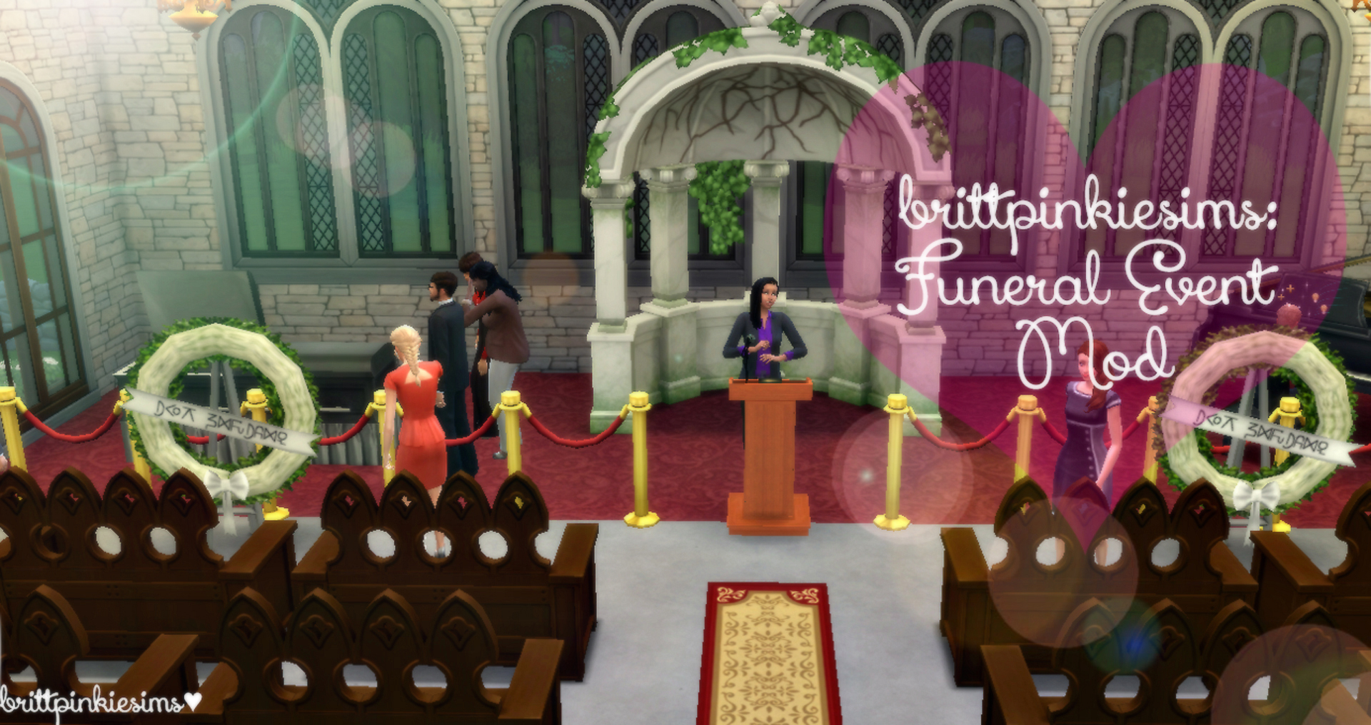 Funeral Event Mod by brittpinkiesims