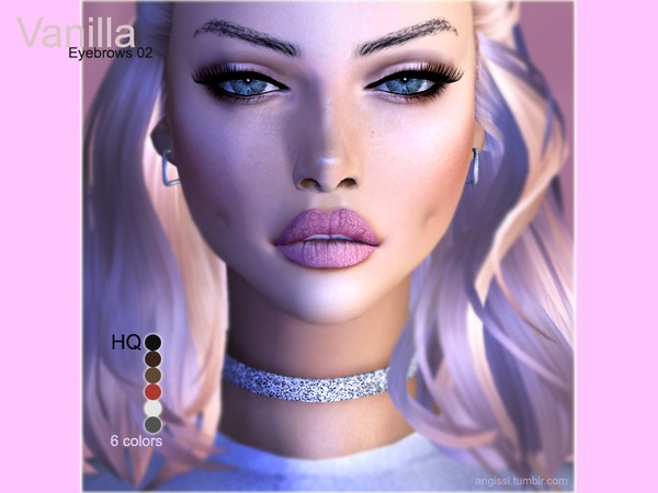 Eyebrows02 Vanilla by ANGISSI
