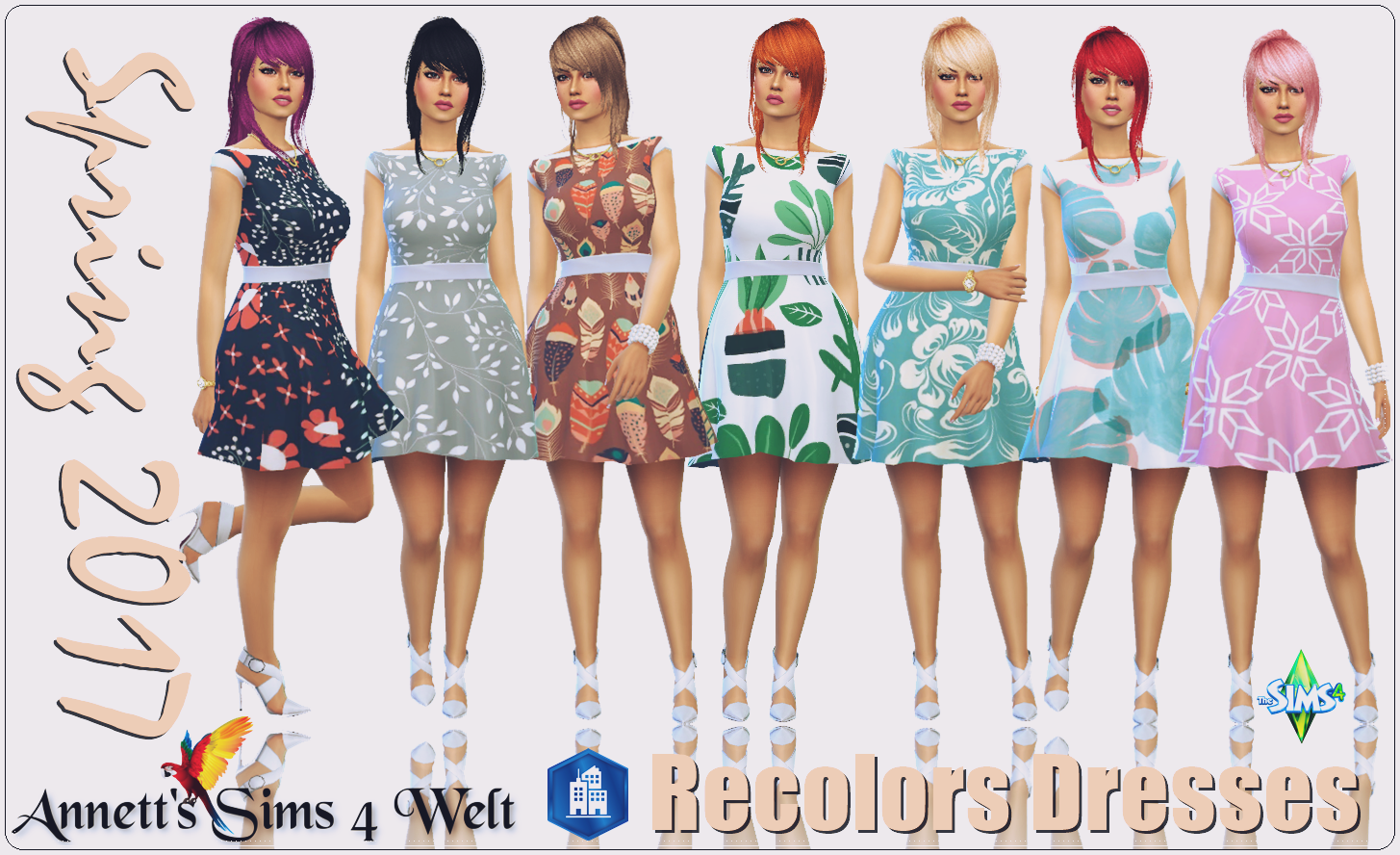 Spring Dresses Recolors by Annett85