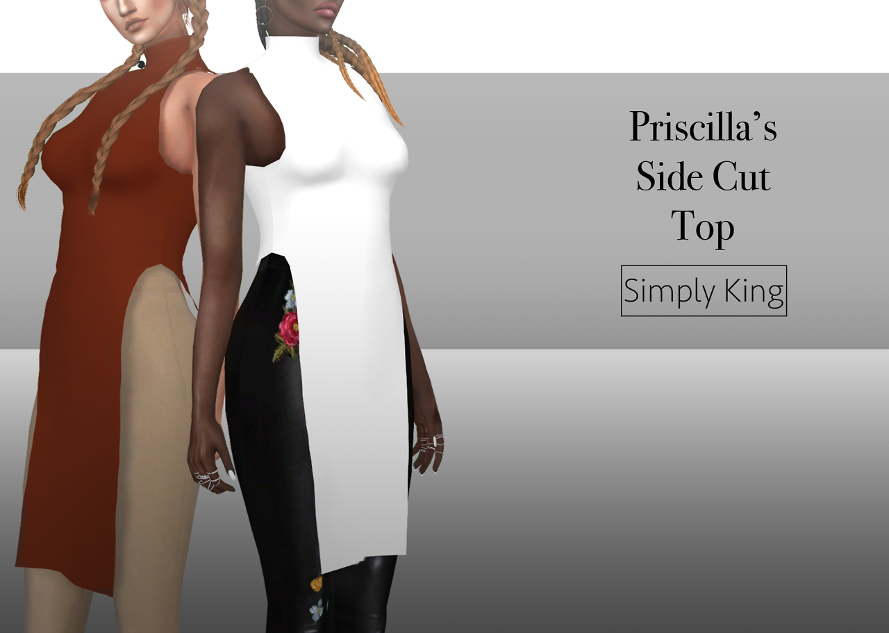 Priscillas Side Cut Top by simply king