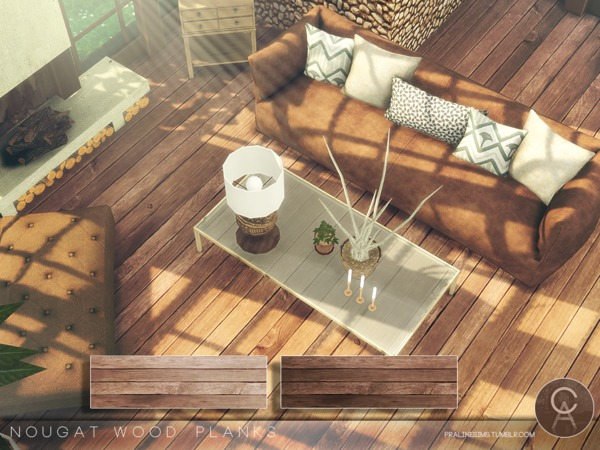 Nougat Wood Planks by Pralinesims