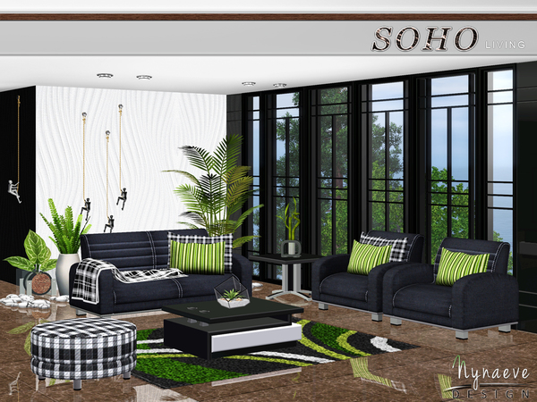 Soho Living Room by NynaeveDesign
