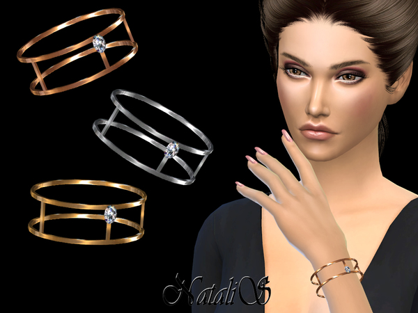 NataliS_Skinny double bracelet with crystal