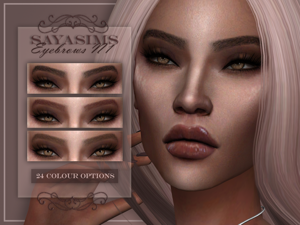 SAYASIMS ~ Eyebrows N1 by SAYASIMS