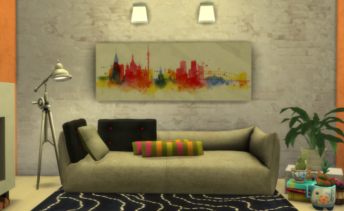 City Painting by ChiLlis Sims