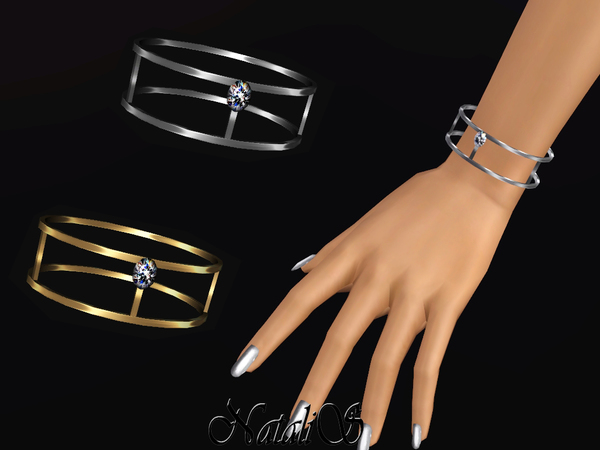 NataliS TS3 Skinny double bracelet with crystal