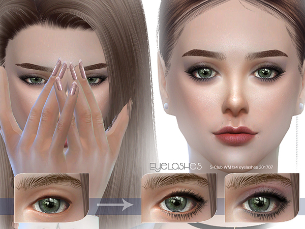 S-Club WM ts4 eyelashes 201707