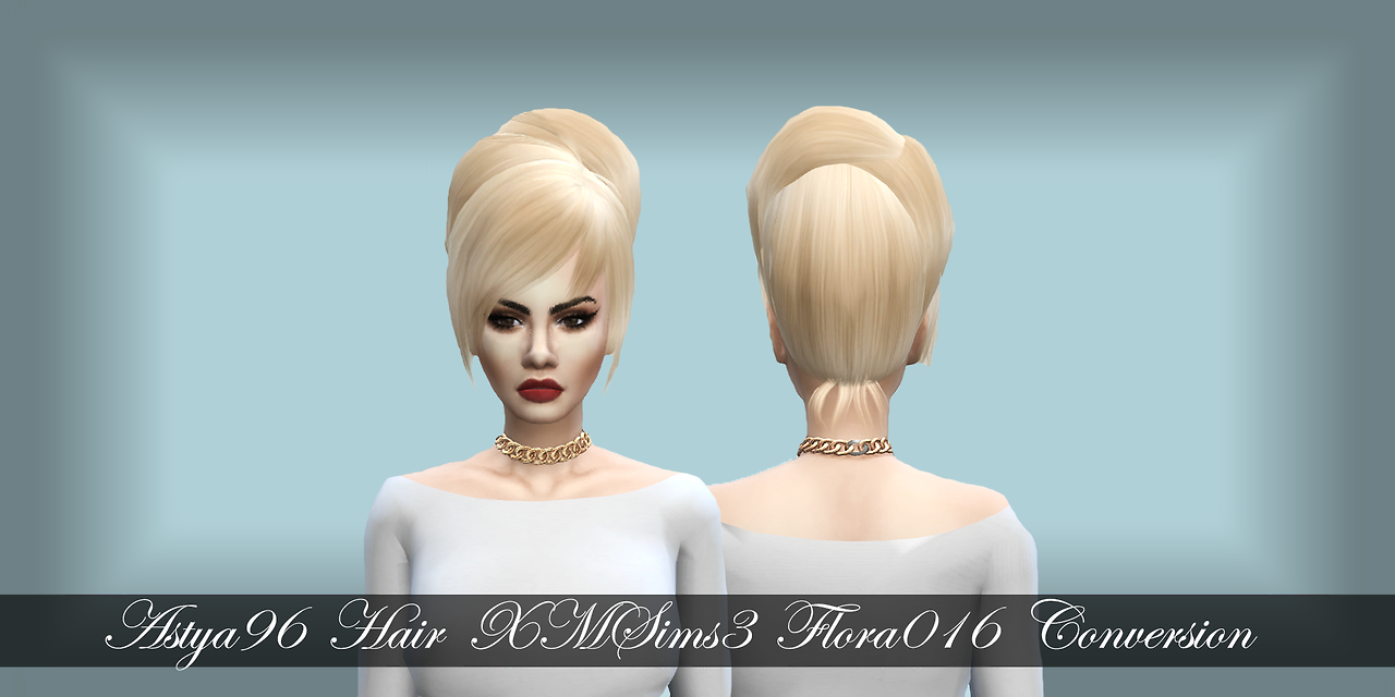 XMSims3 Hair Flora016 Conversion by Astya96