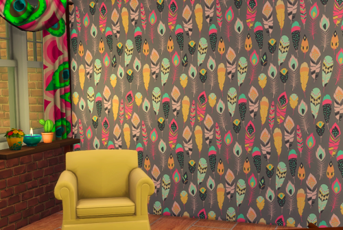 Wallpaper Feathers by ChiLlis Sims