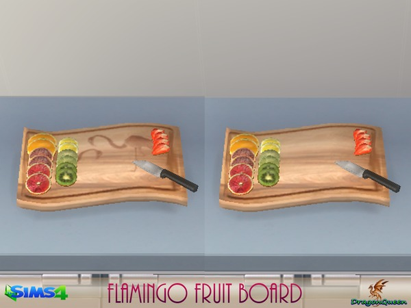 Flamingo Fruit Board by DragonQueen