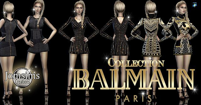 Collection Balmain. Dresses by Jomsims