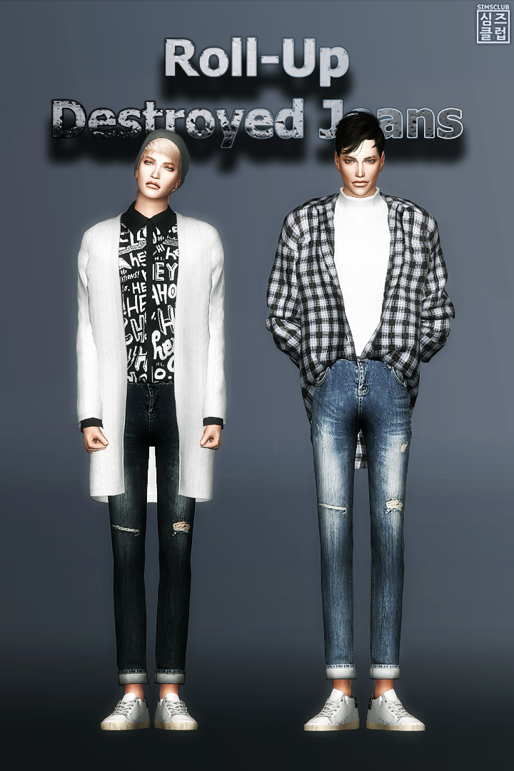 [SIMSCLUB] Roll-Up Destroyed Jeans by sim-ent