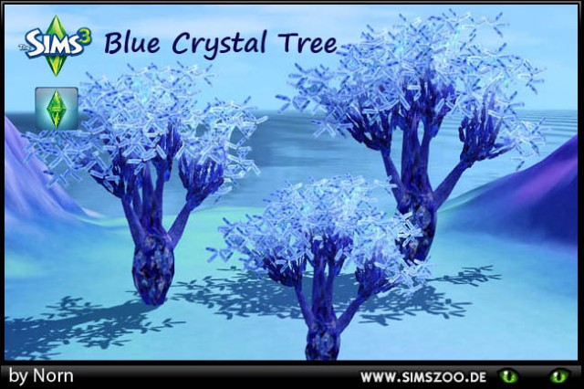 Blue Crystal Tree by Norn