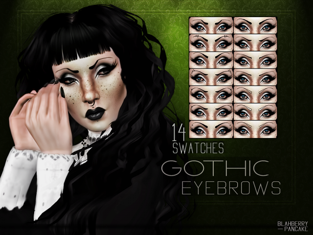 Gothic Eyebrows by Blahberry Pancake