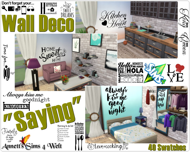 """Wall Deco """"Saying"""" by Annett85"""